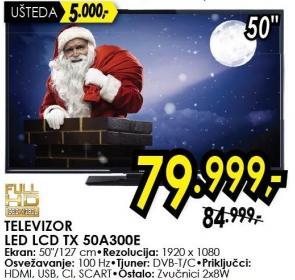 """Televizor LED 50"""" Tx 50a300e"""