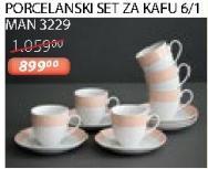 Porcelanski set za kafu 6/1 Man 3229 Sigma