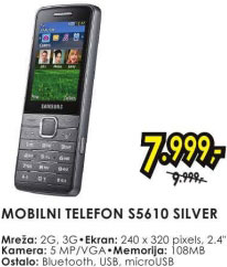 Mobilni telefon S5610 SILVER