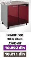 Kuhinjski element IN MDF D80 bordo sjaj