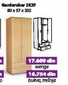 Garderober 2k2f wenge