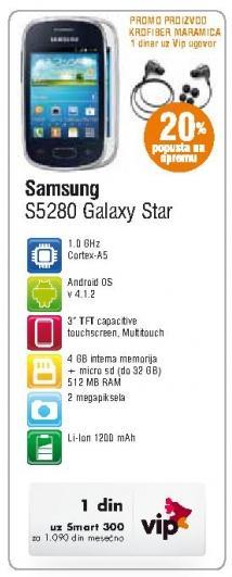 Mobilni telefon S5280 Galaxy Star