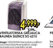 Ventilatorska grejalica Balinea Silence SO 6215
