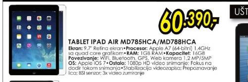 Tablet iPad Air MD788HC/A