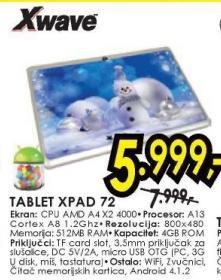 Tabled Xpad 72. X Wave