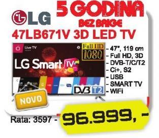 """Televizor LED 47"""" 3D 47lb671v"""