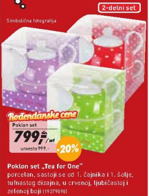 Poklon set Tea for One