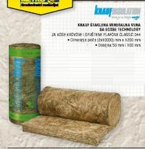 Staklena mineralna vuna KNAUF, Classic 100mm/m2