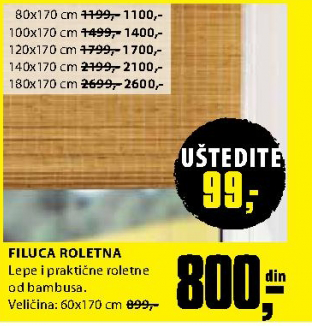 Roletna Filuca 100x170 cm
