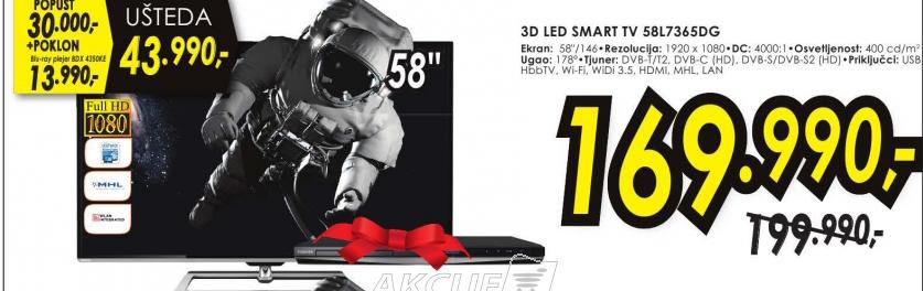 Televizor 3D LED SMART TV 58L7365DG