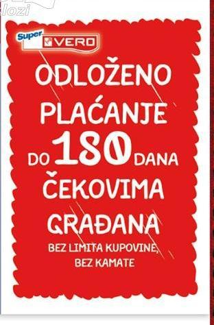 Odloženo plaćanje do 180 dana čekovima građana