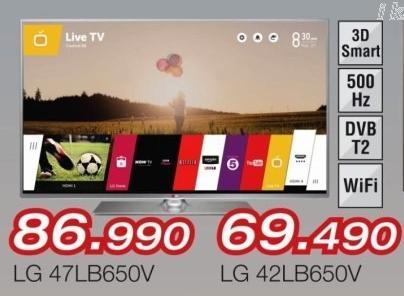 """Televizor LED 47"""" 3D 47lb650v"""