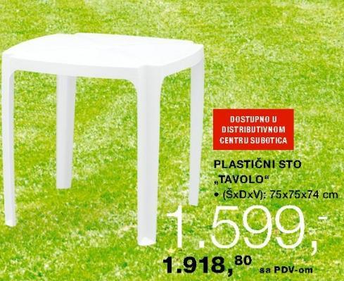 Plastični sto Tavolo