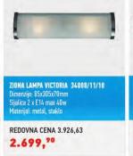 Zidna lampa Victoria