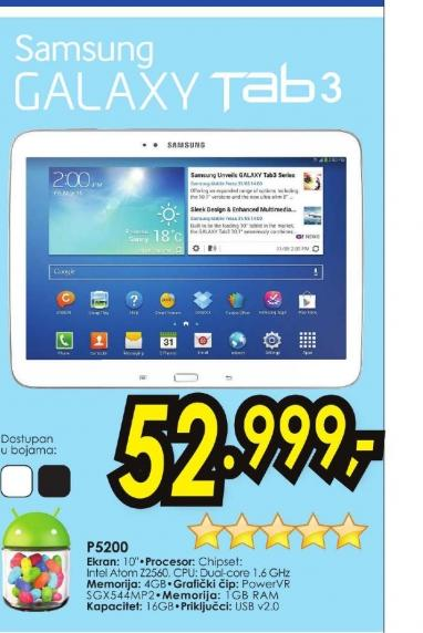 Tablet Galaxy Tab 3 P5200