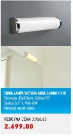 Zidna lampa Victoria Aqua 34008/11/10