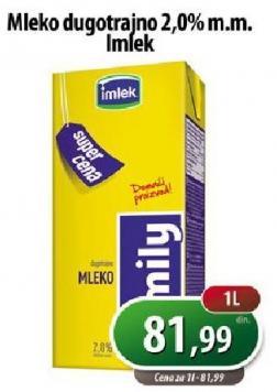 Dugotrajno mleko 2% mm
