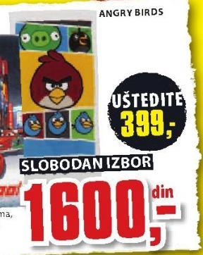 Peškir Angry Birds
