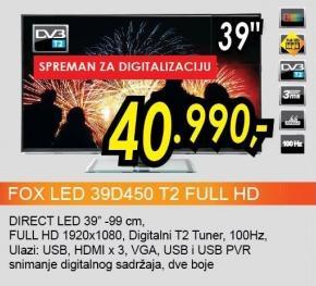 """Televizor LED 39"""" 39d450 Full Hd"""