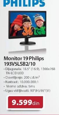 "Monitor 19"" 193V5LSB2/10"