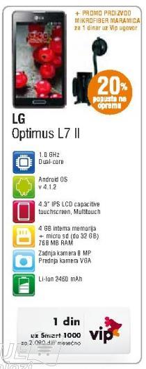 Mobilni telefon Optimus L7 II