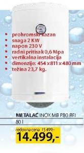 Bojler Inox Mb P80 Rfi