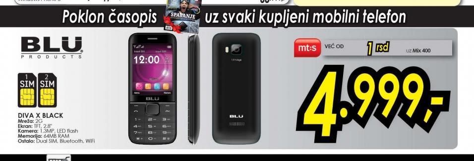 Mobilni telefon Diva X