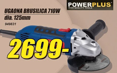 Ugaona brusilica PowerPlus 710w