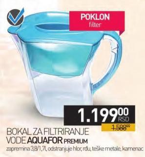 Bokal za filtriranje vode Premium