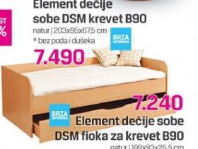 Element dečje sobe DSM krevet B90