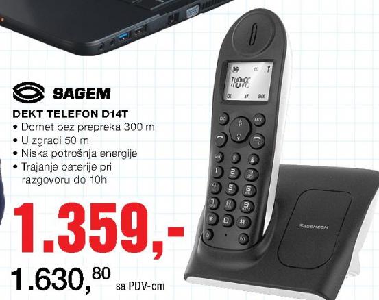 Sagem Dect telefon D14T