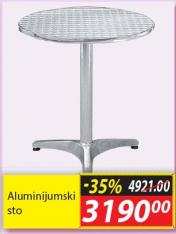 Aluminijumski sto