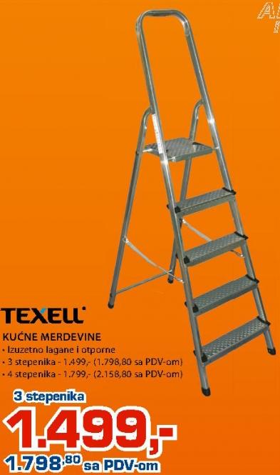 Kućne merdevine, Texell, 4 stepenika