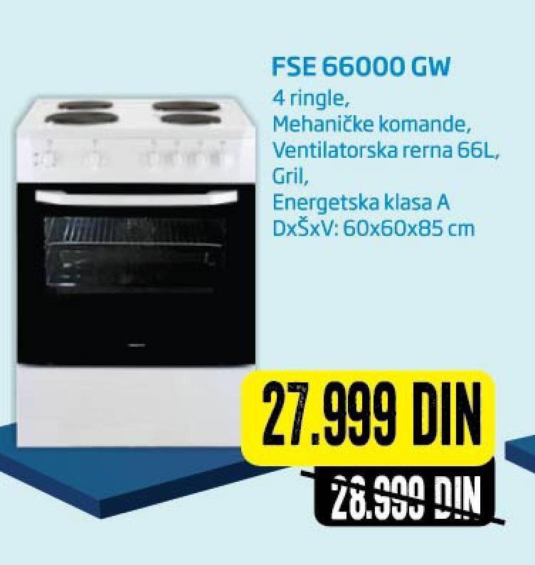 Šporet FSE 66000GW