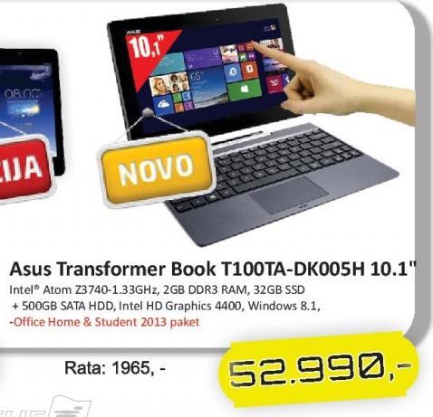 Tablet Transformer Book T100ta-Dk005h