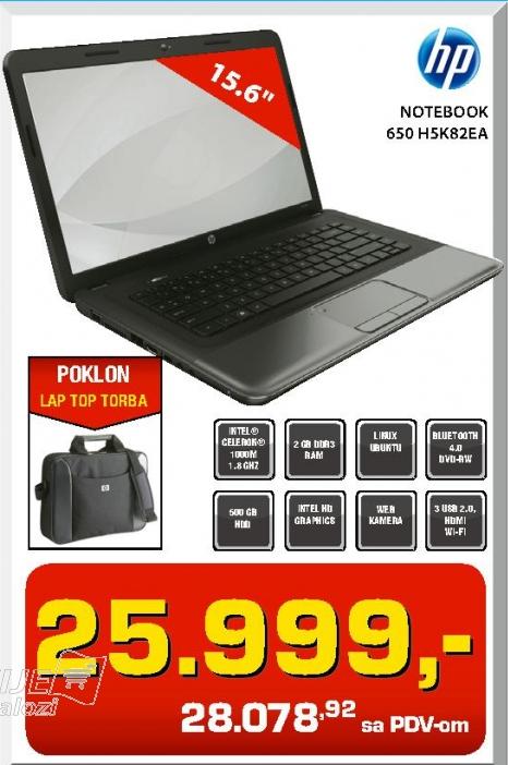 Notebook 650 H5K82EA + TORBA