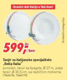 Tanjir za italijanske specijalitete Bella Italia