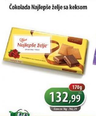 Čokolada sa keksom