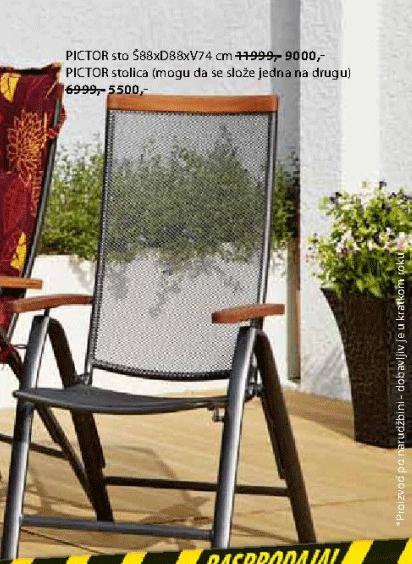 Baštenska stolica Pictor