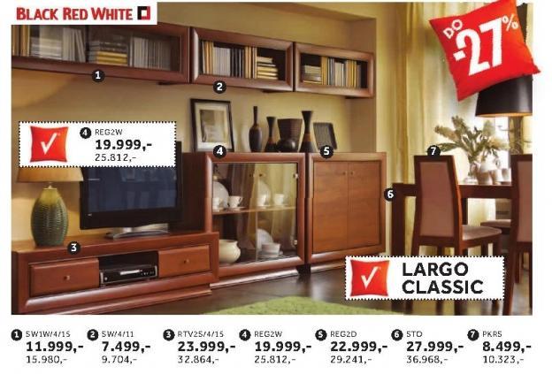 Polica Sw1w/4/15 Largo Classic Black Red White