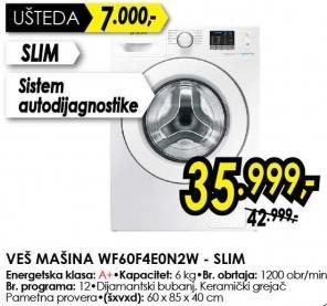 Mašina za pranje veša VVF60F4E0N2VV Slim
