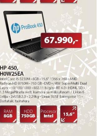 Laptop 450 HOW25EA