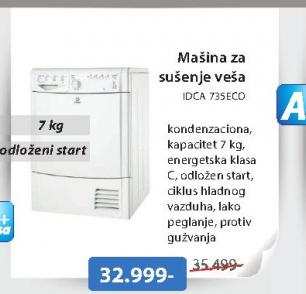 Mašina za sušenje veša IDCA 735ECO