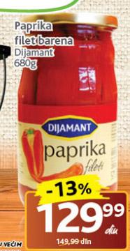 Paprika filet