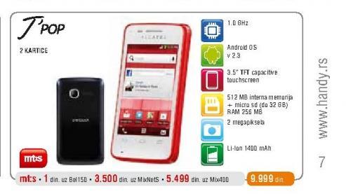 Mobilni telefon OT 4010D T Pop
