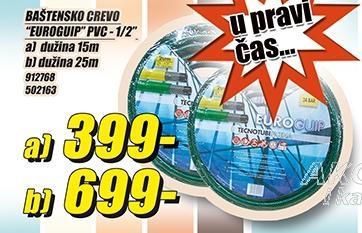 """Baštensko crevo Euroguip Pvc 1/2"""" 25m"""