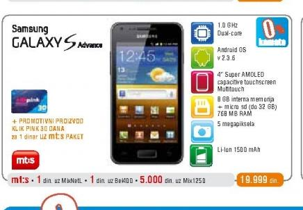 Mobilni telefon i9070 Galaxy S Advance