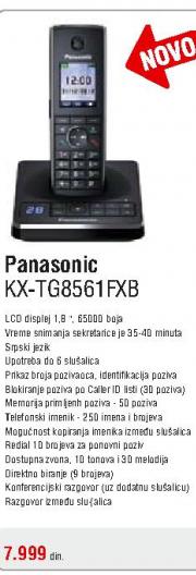 Fiksni bežični telefon KX-TG8561