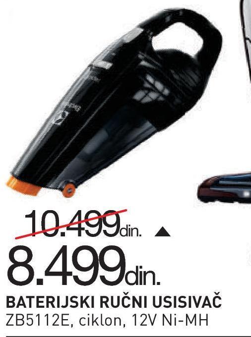 Usisivač akumulatorski ZB5112E