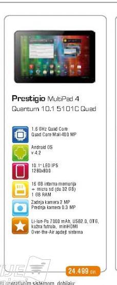 Tablet 5101 CQUAD Blue